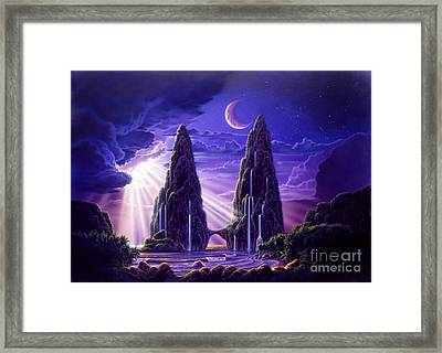 Tropical Hideaway Framed Print by Robin Koni