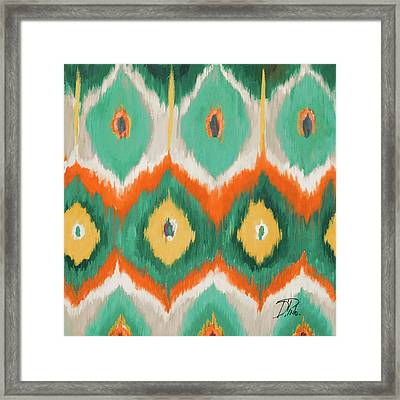 Tropical Ikat II Framed Print by Patricia Pinto