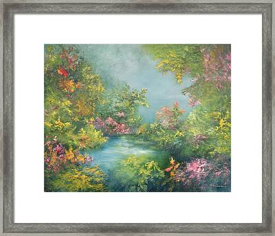 Tropical Impression Framed Print by Hannibal Mane