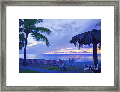 Tropical Island Framed Print by Betty LaRue