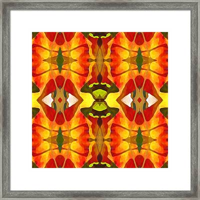 Tropical Leaf Pattern 4 Framed Print by Amy Vangsgard