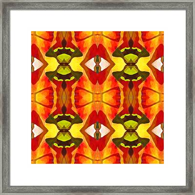 Tropical Leaf Pattern 7 Framed Print by Amy Vangsgard