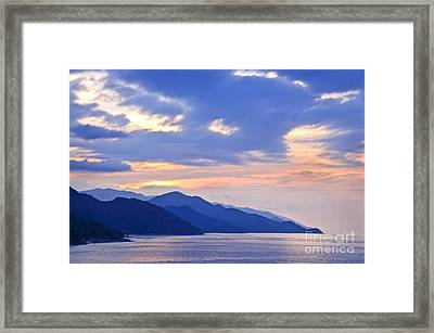 Tropical Mexican Coast At Sunset Framed Print by Elena Elisseeva