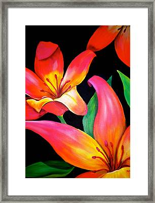 Tropical Punch Framed Print by Debi Starr
