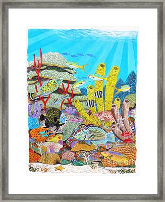 Tropical Reef Framed Print by Carey Chen