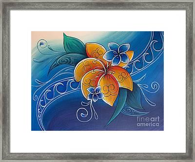 Tropical Rua Framed Print by Reina Cottier