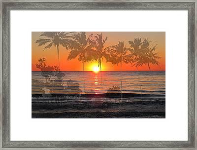 Tropical Spirits - Palm Tree Art By Sharon Cummings Framed Print by Sharon Cummings