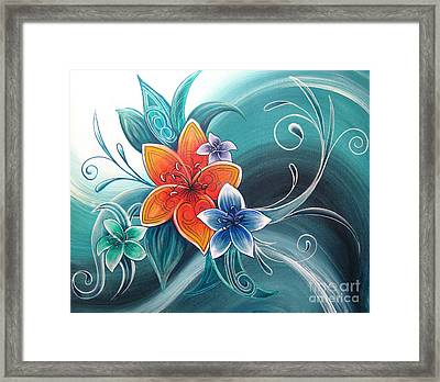 Tropical Tahi Framed Print by Reina Cottier