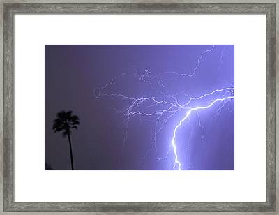 Tropical Thunderstorm Night  Framed Print by James BO  Insogna