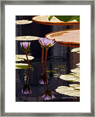Tropical Waters Floral Charm -- Version 2 Framed Print by Byron Varvarigos