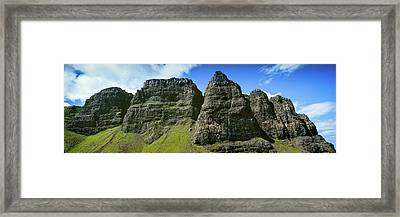 Trotternish Ridge Behind The Old Man Framed Print by Panoramic Images