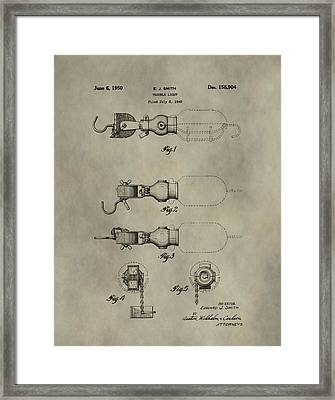 Trouble Light Patent Framed Print by Dan Sproul