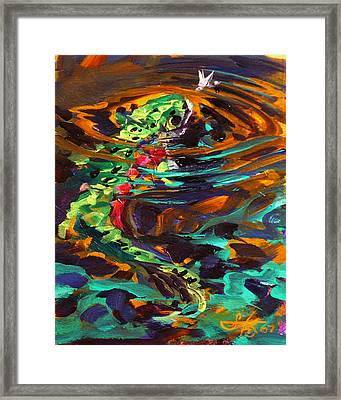 Trout And Fly II Framed Print by Savlen Art
