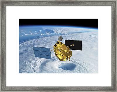 Trrm Rainfall Satellite Framed Print by Nasa
