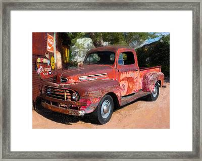Truck And Hubcaps Framed Print by Ron Regalado