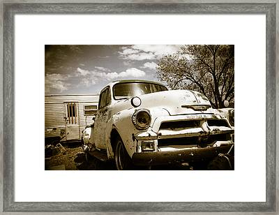 Truck And Trailer Framed Print by Steven Bateson