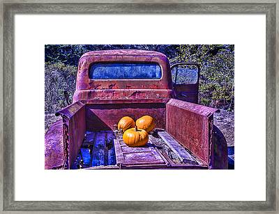 Truck Bed Framed Print by Garry Gay