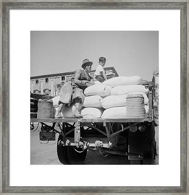 Truck Loaded With American White Flour Framed Print by Stocktrek Images