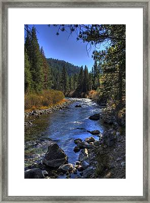 Truckee River Framed Print by Ren Alber