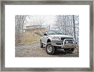 Truckin Framed Print by Jonathan Abrantes