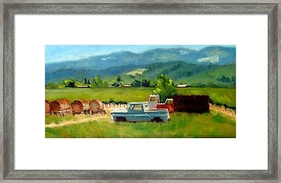 Trucks With A View Framed Print by Char Wood