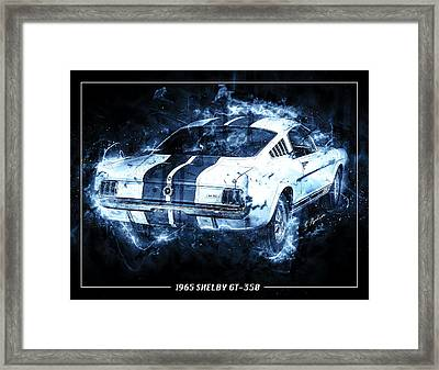 Blue Lightening Framed Print by Gary Bodnar