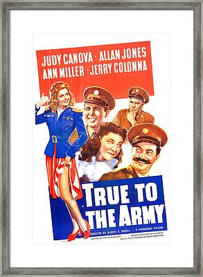 True To The Army, Us Poster, Top Row Framed Print by Everett
