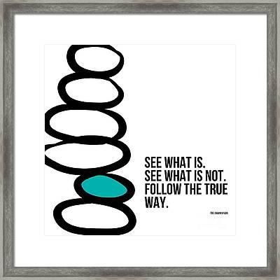 True Way Framed Print by Linda Woods