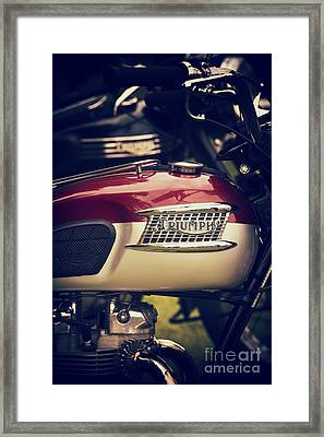Truimph T120 Framed Print by Tim Gainey
