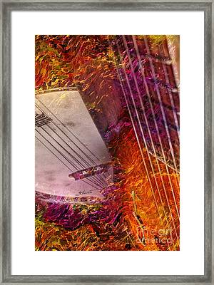 Truly Southern Digital Banjo And Guitar Art By Steven Langston Framed Print by Steven Lebron Langston