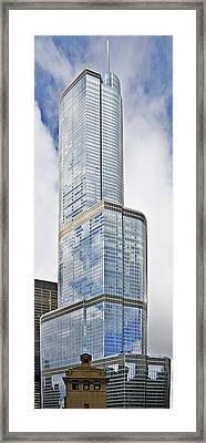 Trump Tower Chicago - A Surplus Of Superlatives Framed Print by Christine Till