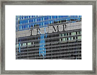 Trump Tower Marquee Framed Print by Frozen in Time Fine Art Photography