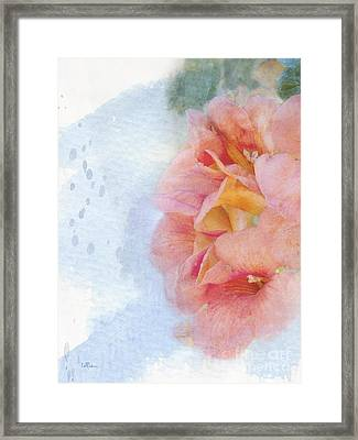 Trumpet Flowers #3 Framed Print by Betty LaRue
