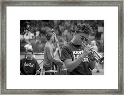 Trumpet In The Big Easy Framed Print by David Morefield
