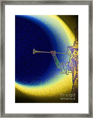 Trumpet Moon Framed Print by First Star Art