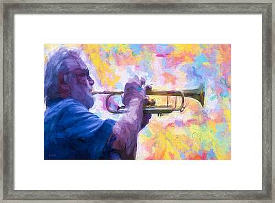 Trumpet Player Framed Print by Bob Orsillo