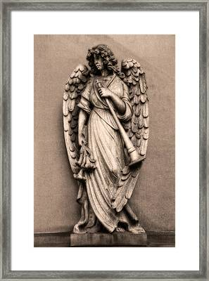 Trumpeter Angel Framed Print by Tom Mc Nemar
