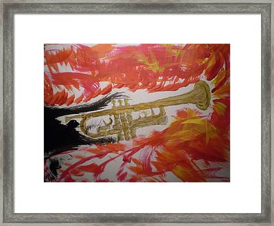 Trumpeting Away Framed Print by Rob Spencer