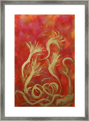 Trumpets Framed Print by Lola Connelly