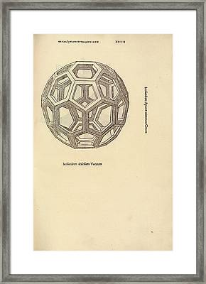 Truncated Icosahedron Framed Print by Library Of Congress