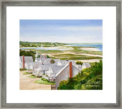 Truro Summer Cottages Framed Print by Michelle Wiarda