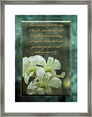 Trusting God Framed Print by Carolyn Marshall