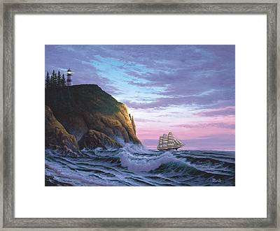 Trusting The Light Framed Print by Del Malonee
