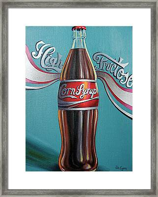 Truth In Labeling Framed Print by Jim Figora