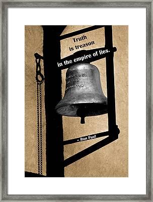 Truth Is Treason Framed Print by Mike Flynn
