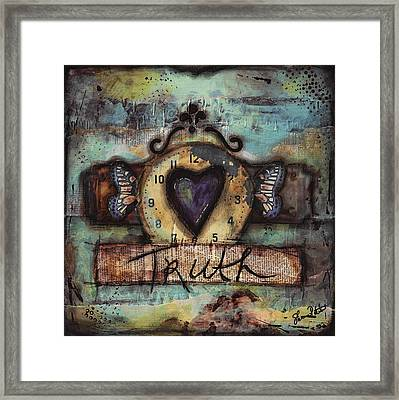 Truth Framed Print by Shawn Petite
