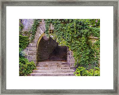 Tryon Park Arch Framed Print by Jon Woodhams