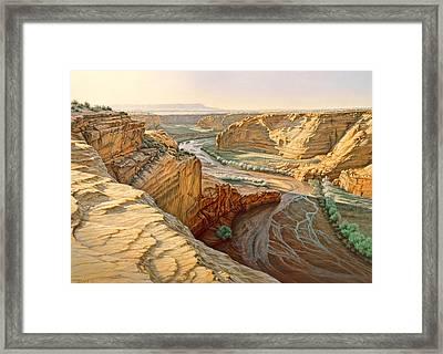 Tsegi Overlook - Canyon De Chelly Framed Print by Paul Krapf