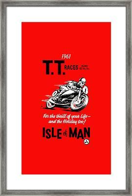 Tt Races Phone Case Framed Print by Mark Rogan