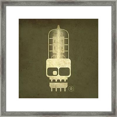 Tubeskull Framed Print by Milton Thompson